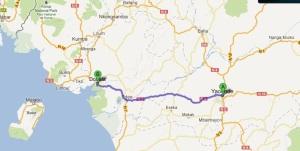 Yaounde to Douala