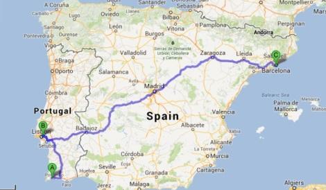 Lagos to Barcelona