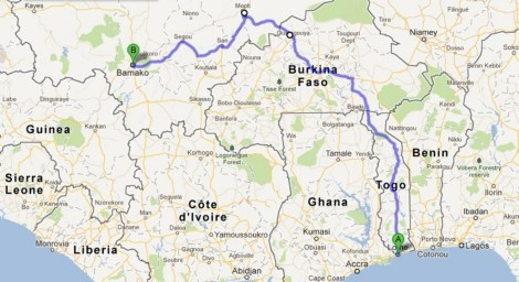 Lome to Bamako
