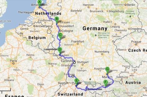 Amsterdam to Innsbruck