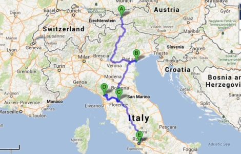 Innsbruck to Rome
