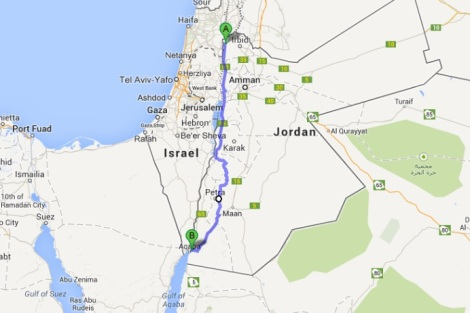 Jerusalem to Aqaba