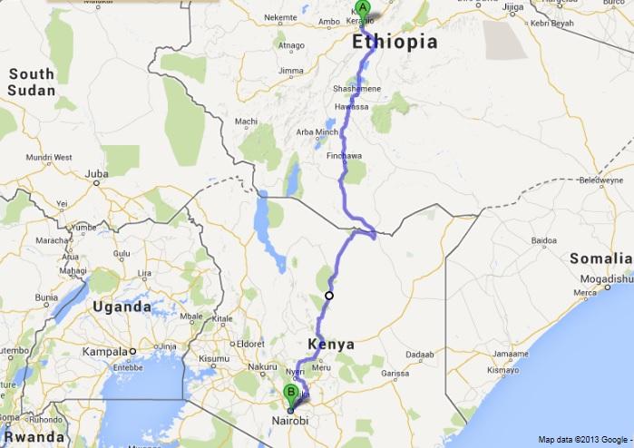 Day Nairobi Riding Past The First Thorn Tree VansAfrica - Where is nairobi