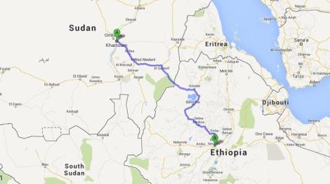 Khartoum to Addis Ababa